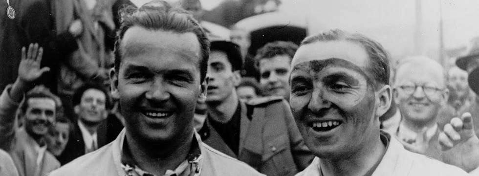 Mille Miglia: Caracciola e o co-piloto Wilhelm Sebastian