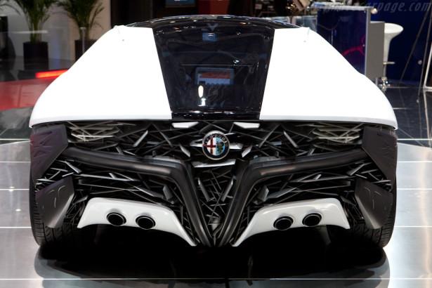 Alfa Romeo Pandion Bertone  sports car Coupe futuristic design concept vehicle italian italy 1 rear view