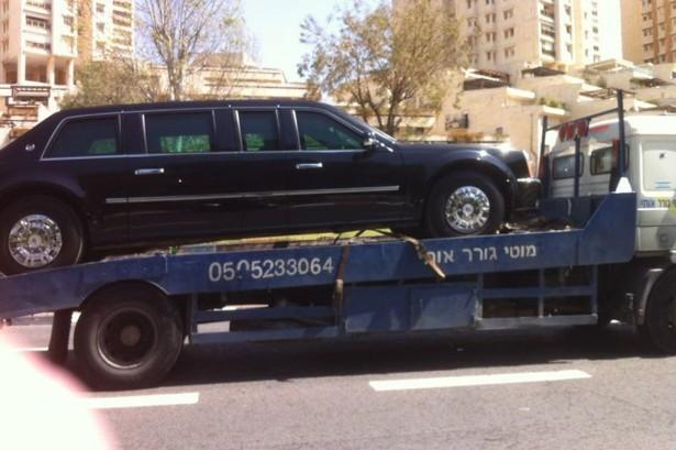 carro obama rebocado