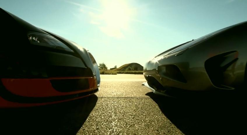 bugatti veyron grand sport vitesse vs koenigsegg agera r raz o autom vel. Black Bedroom Furniture Sets. Home Design Ideas