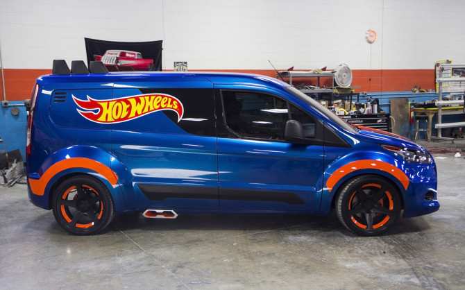 Ford's 2014 Transit Connect Sizzles for SEMA Courtesy of Hot W