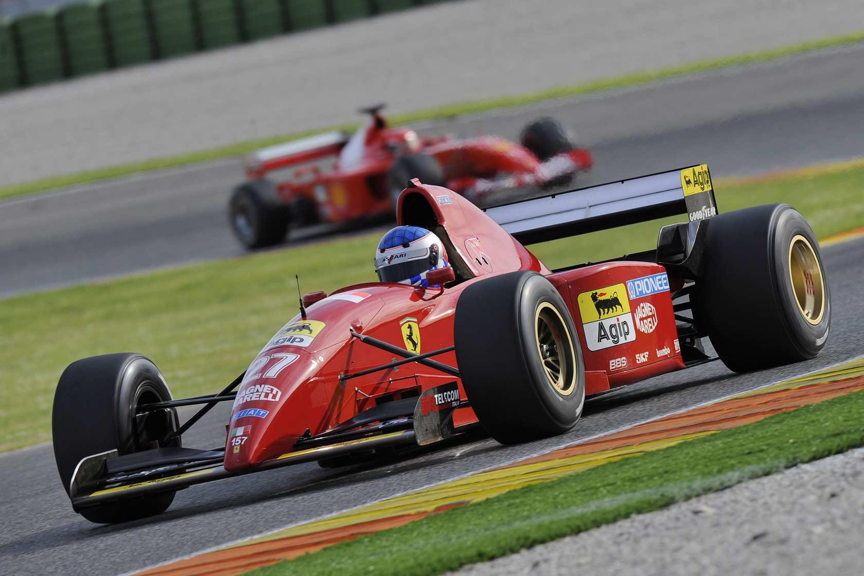 Ferrari 412 T2 F1 Acelera No Circuito De Spa Raz 227 O Autom 243 Vel