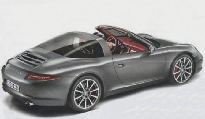 Salão de Detroit 2014_ Porsche 911 Targa