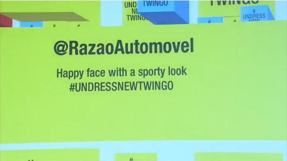 Renault Twingo 2014 tweet