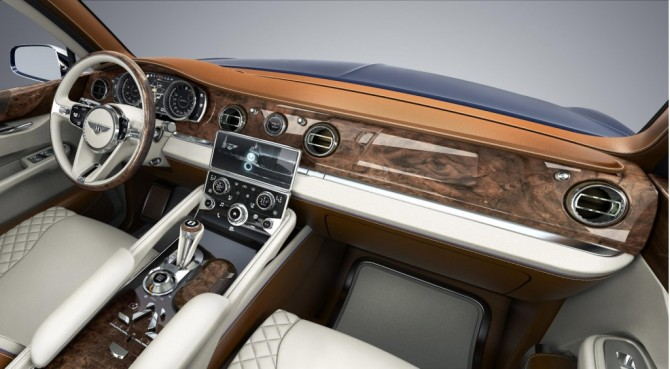Interior do Bentley Exp 9 F Concept de 2012