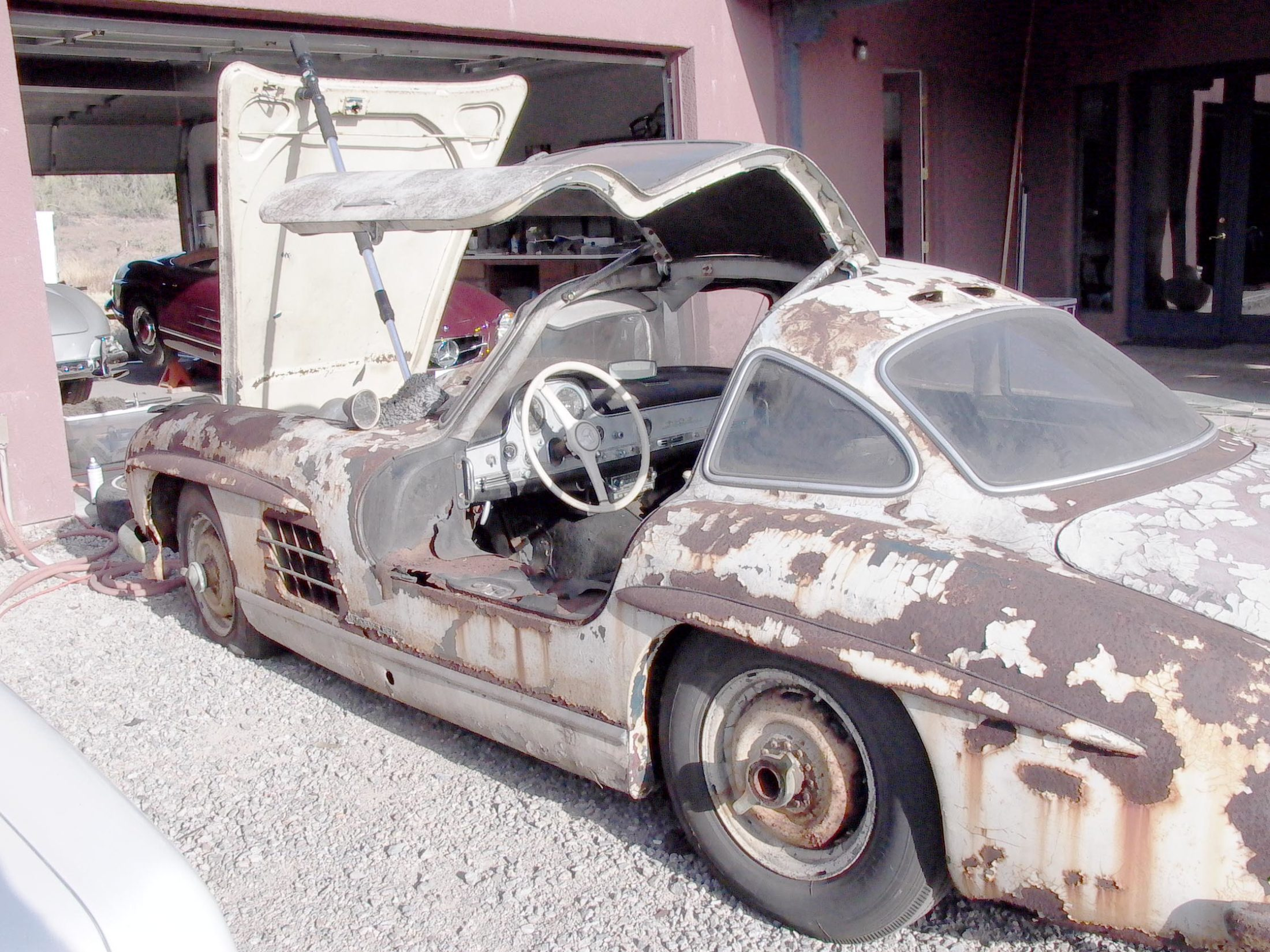 """Mercedes 300 SL """"Asas de Gaivota"""" abandonados (13)"""
