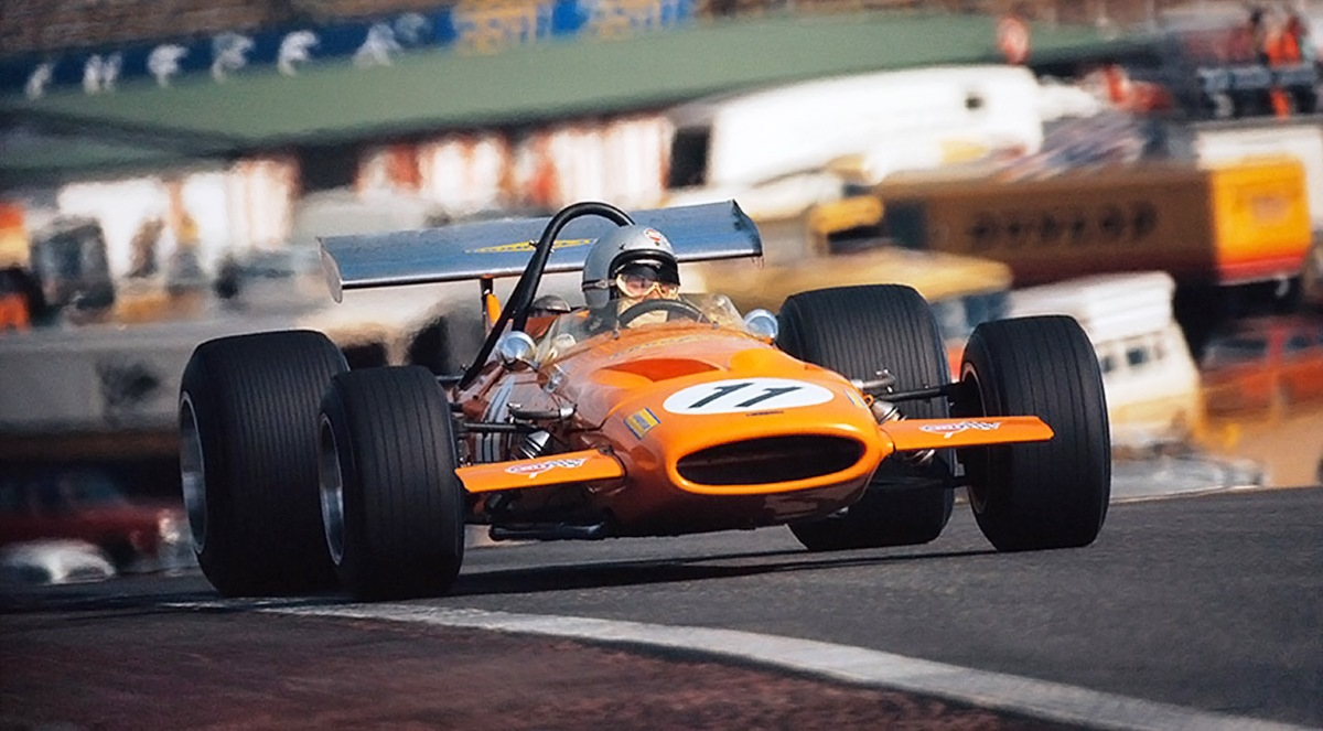 Bruce McLaren finishes as runner-up in his penultimate race