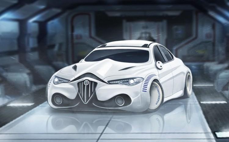 sw Alfa Romeo Giulia Stormtrooper edition