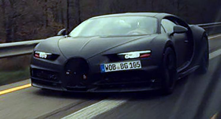 Bugatti Chiron protótipo de testes