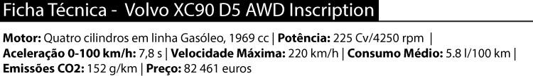 Volvo XC90 — especificações