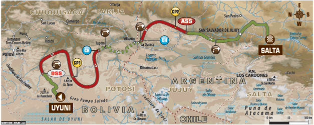 dakar 7ª etapa mapa