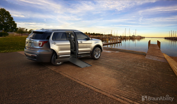 The BraunAbility MXV features a 28.5-inch ramp for convenient side door access.