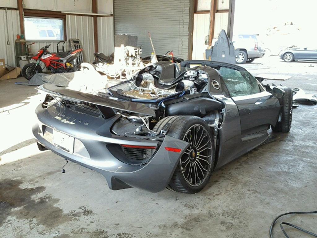 Porsche 918 Spyder Acidentado Vai A Leil 227 O