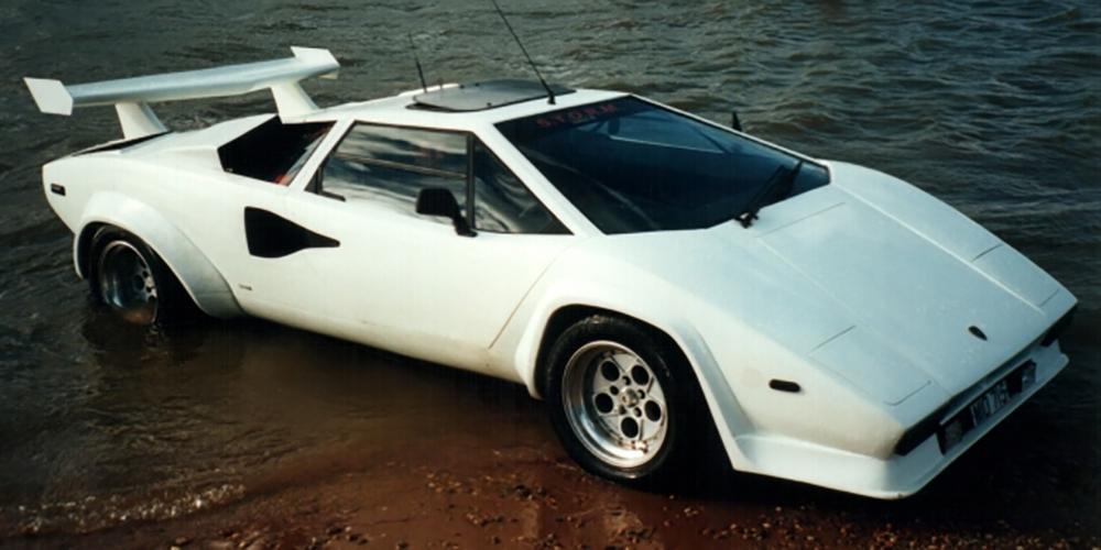 Lamborghini Countach anfíbio