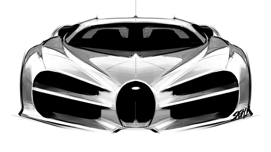 designer revela primeiros desenhos do bugatti chiron. Black Bedroom Furniture Sets. Home Design Ideas