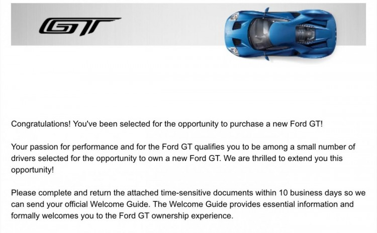 email ford GT