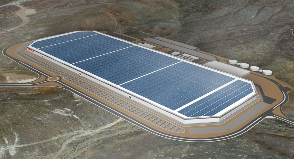 Gigafactory Tesla, no estado do Nevada, EUA