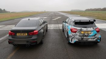 drag race mercedes-amg a45 bmw m3