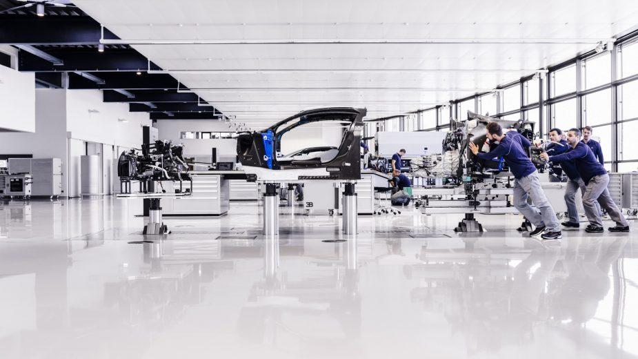 Bugatti Chiron estrutura