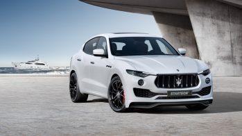 2017 Maserati Levante por Startech - fibra de carbono - frente 3/4