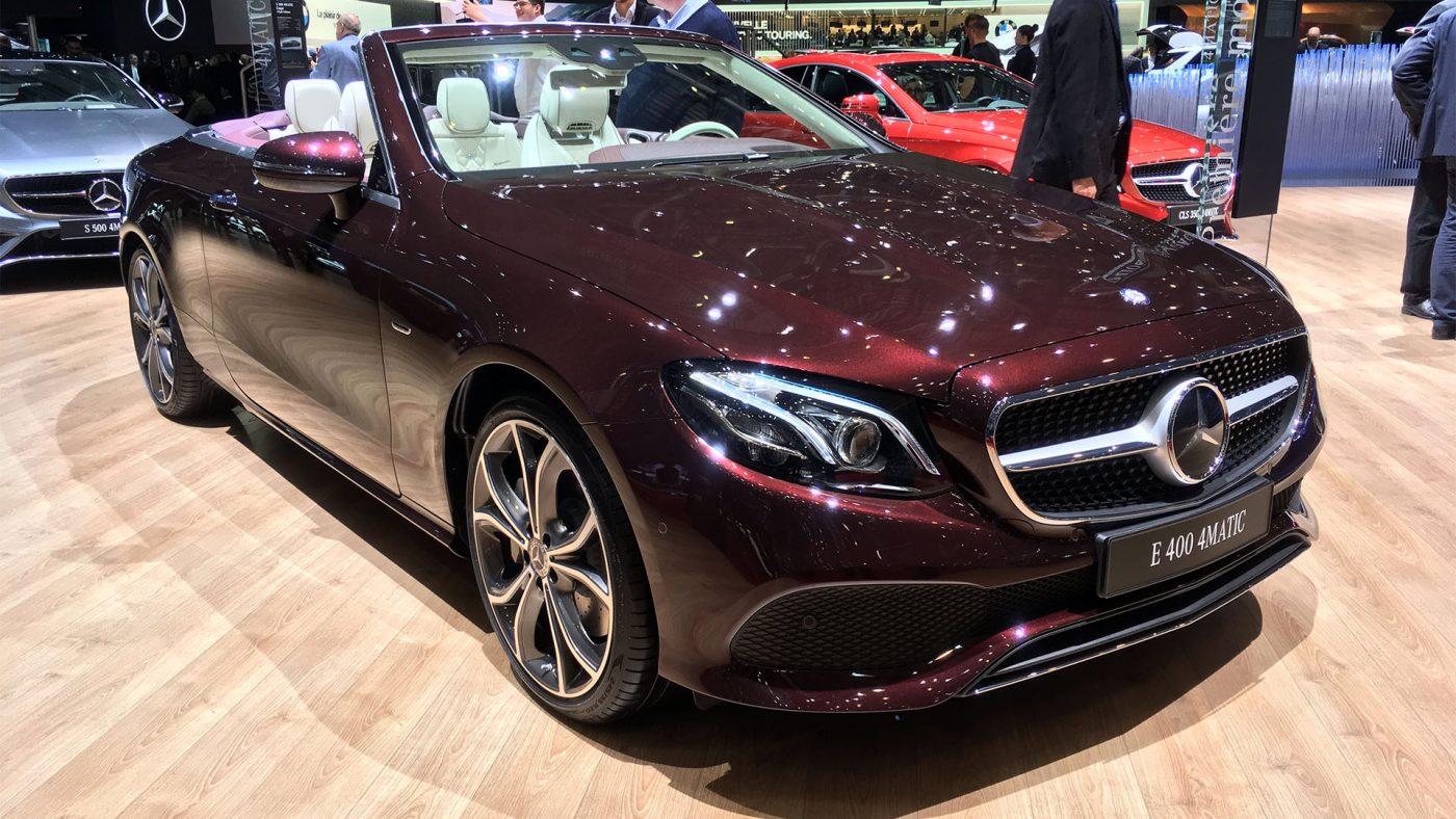 2017 Mercedes Classe E Cabriolet - frente 3/4
