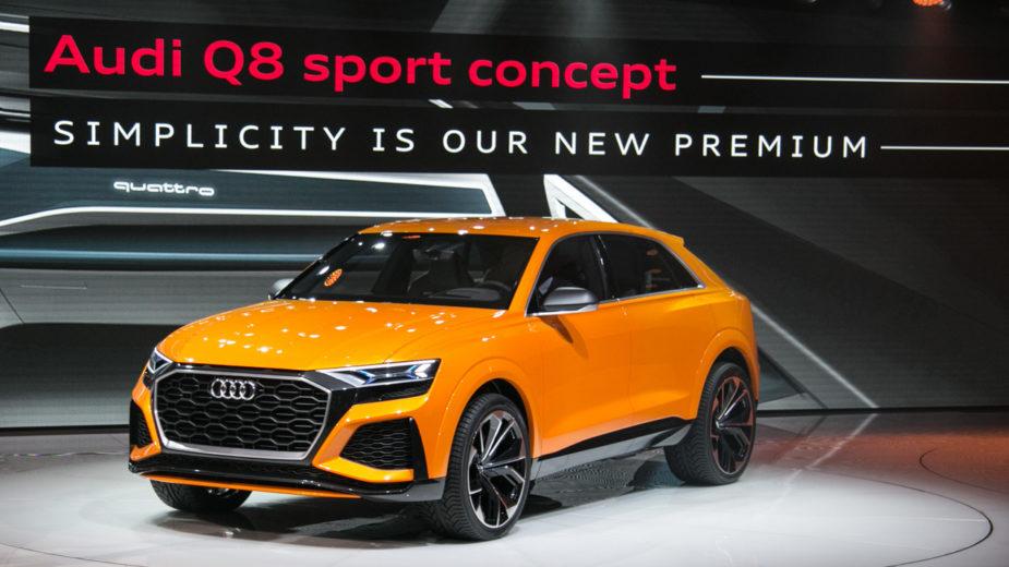 2017 Audi Q8 Sport em Genebra
