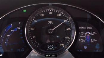 2017 Bugatti Chiron velocímetro