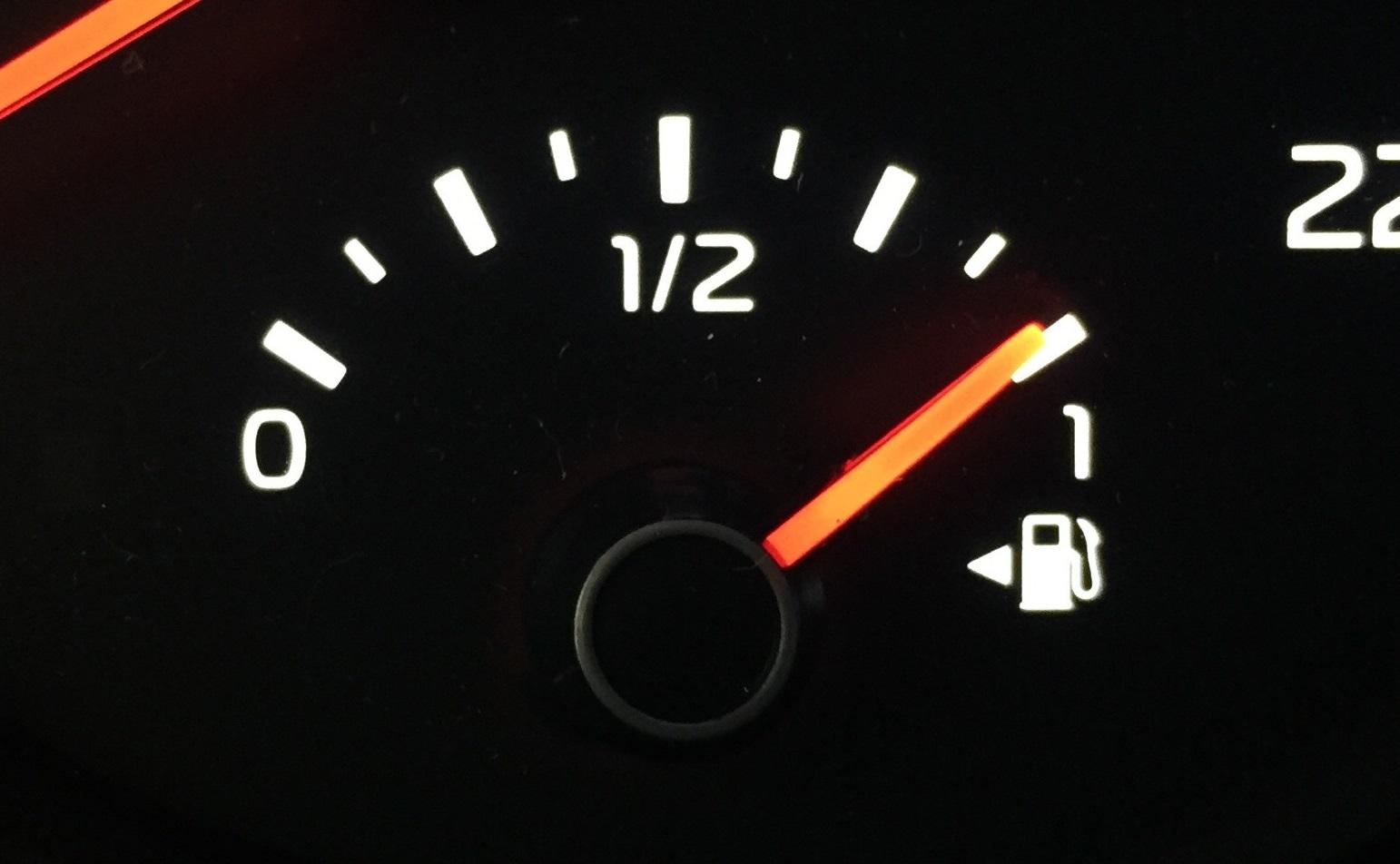 seta indicador combustível