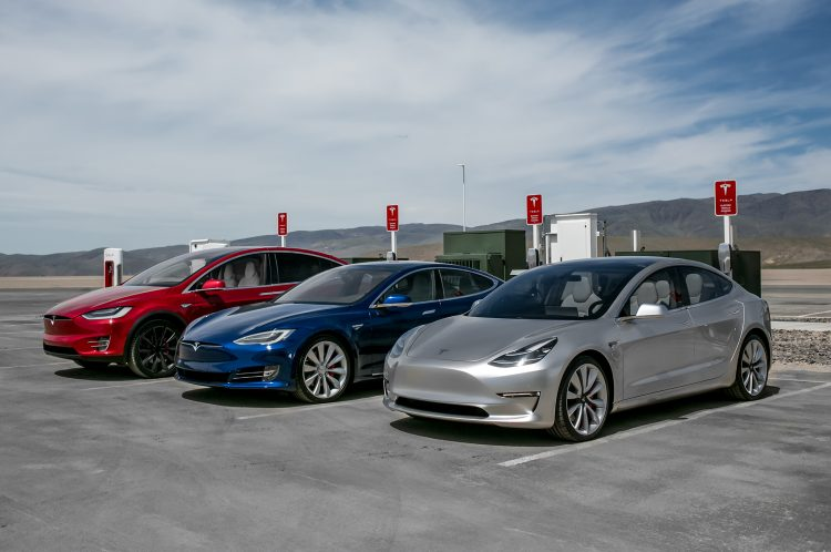 Tesla Model X, Tesla Model S e Tesla Model 3