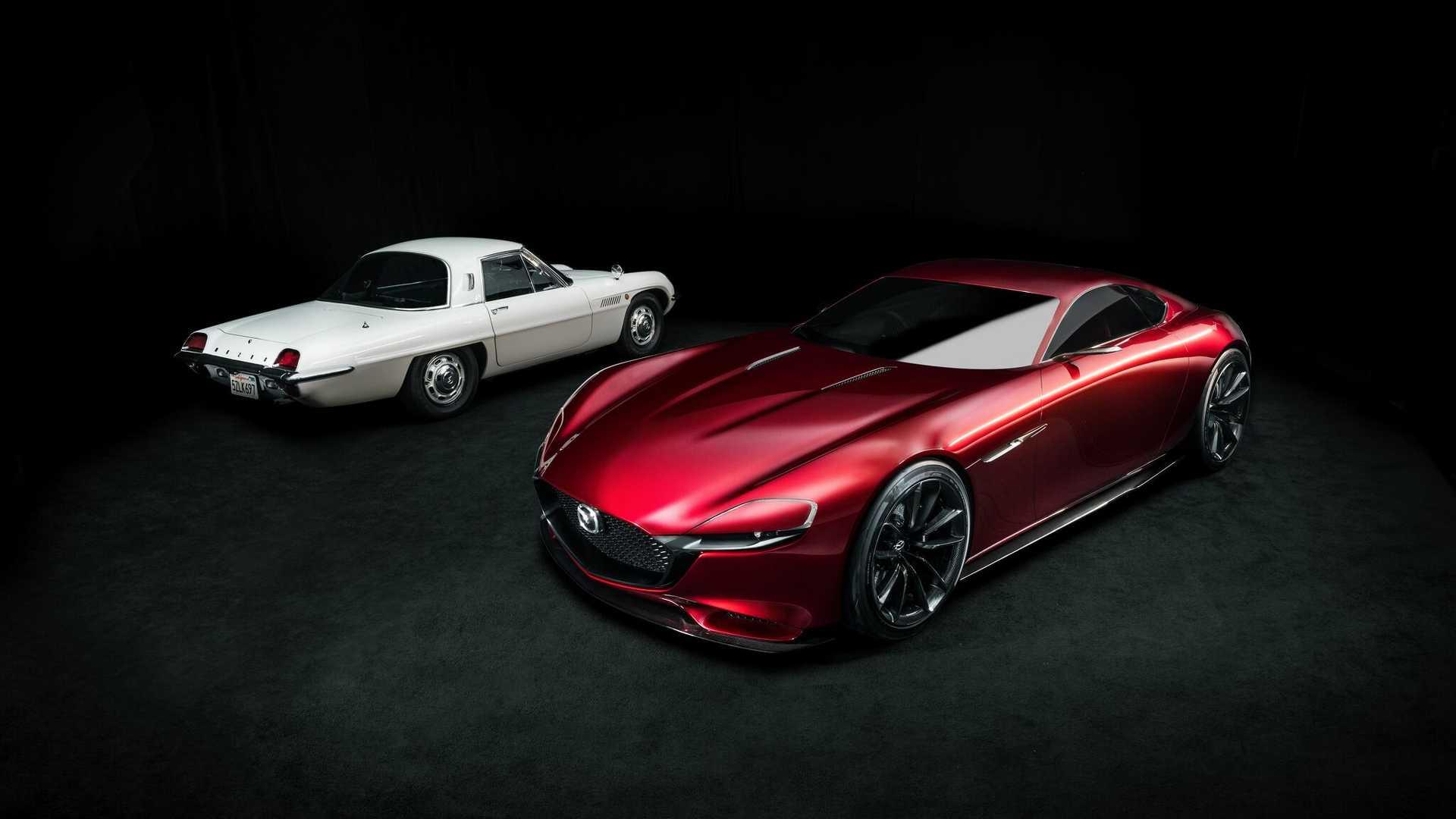 1967 Mazda Cosmo Sport e 2015 Mazda RX-Vision