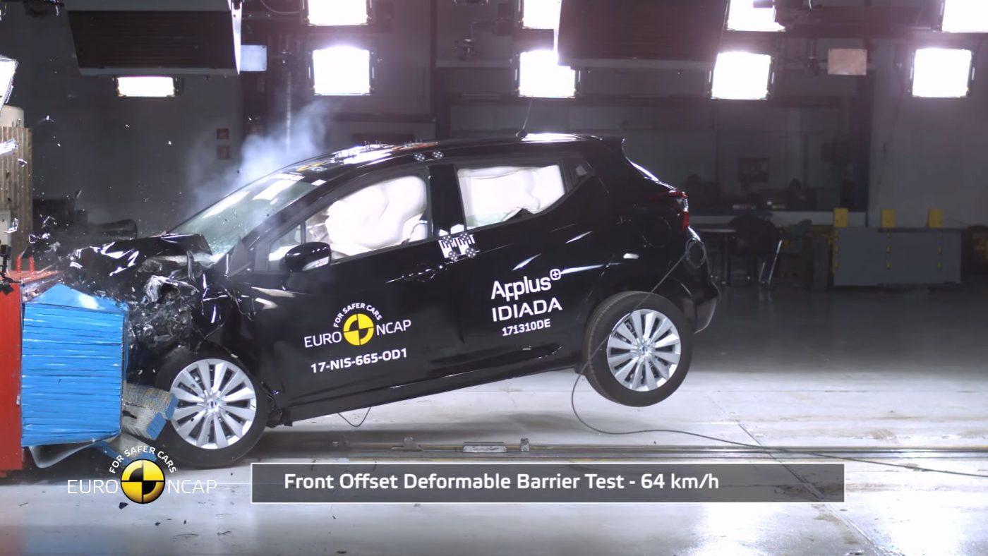 2017 Nissan Micra Euro NCAP teste