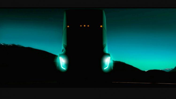 Camião Tesla teaser