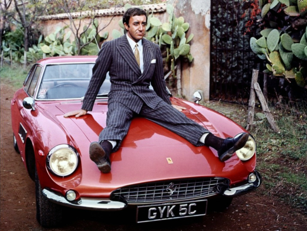 Peter Sellers e o seu Ferrari 500 Superfast