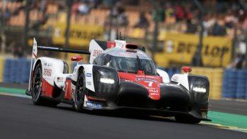 Toyota Gazoo Racing TS050 número 7 em Le Mans - dia de testes