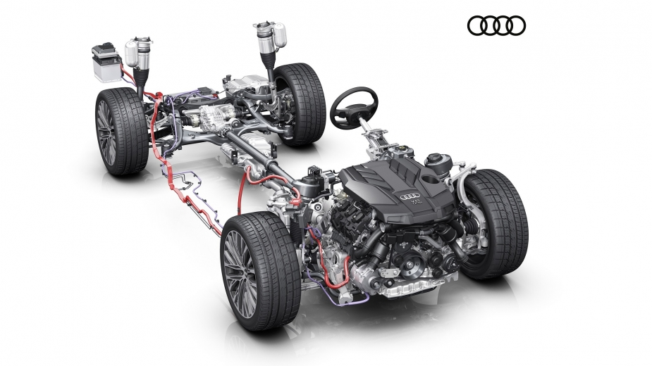 Audi A8 Mild-Hybrid system