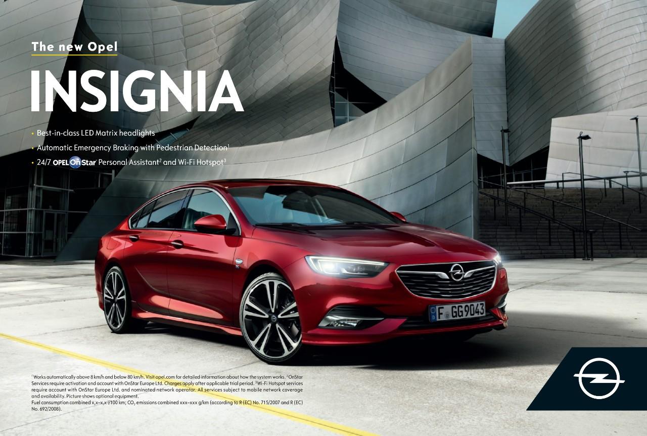 Campanha Opel Insignia com novo Logótipo e assinatura da marca