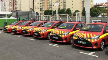 Toyota Yaris Bizz entregues aos Bombeiros Sapadores de Lisboa
