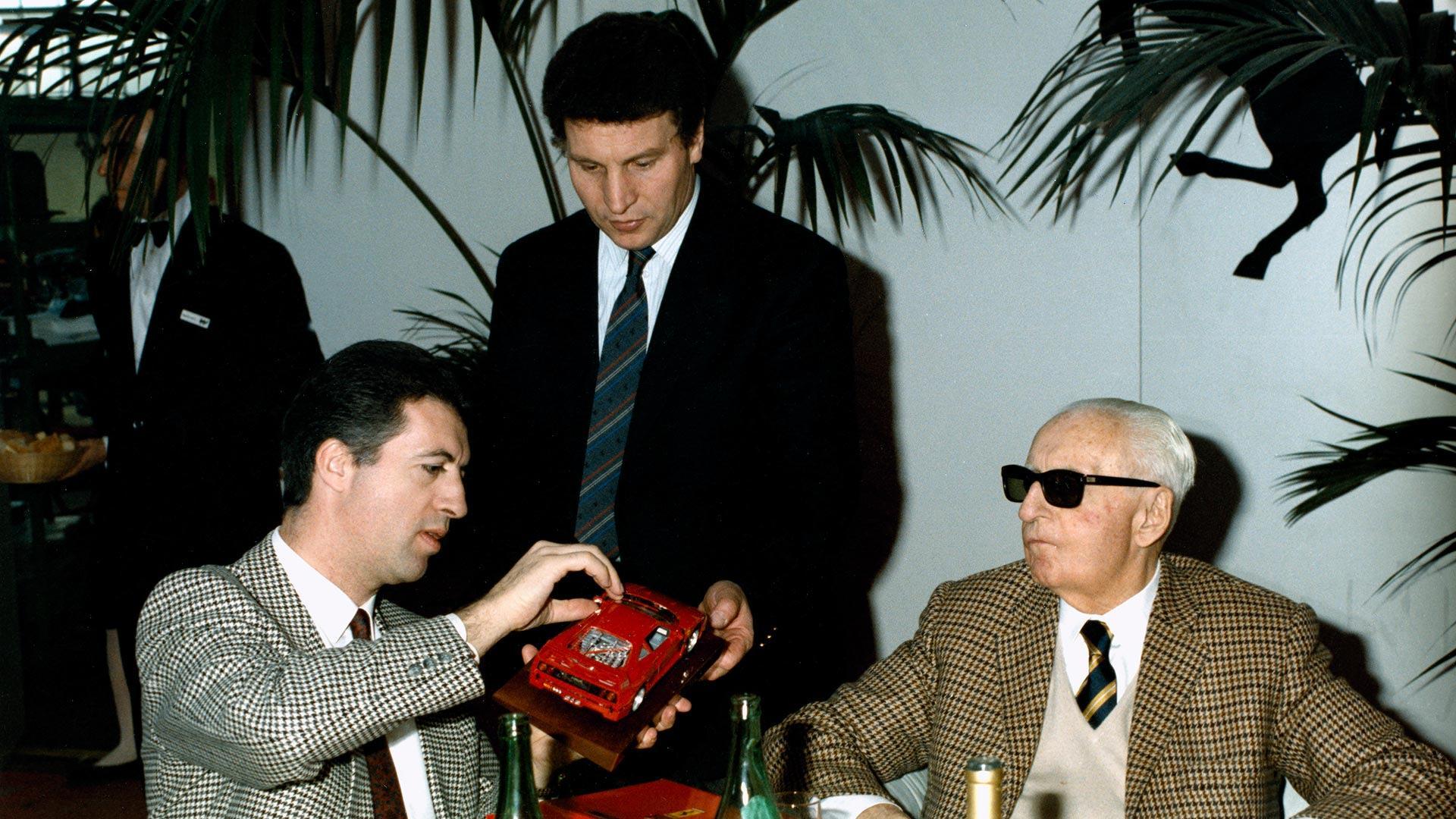 Enzo Ferrari e Piero Ferrari