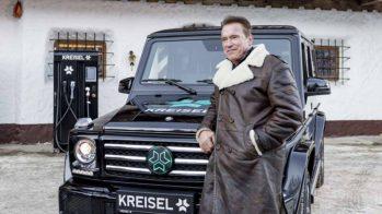 Arnold Schwarzenegger Mercedes-Benz Classe G elétrico