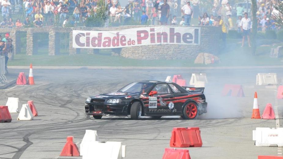 André Silva, vencedor da Taça Ibérica de Drift, Pinhel, 2017, aos comandos de um Nissan Skyline