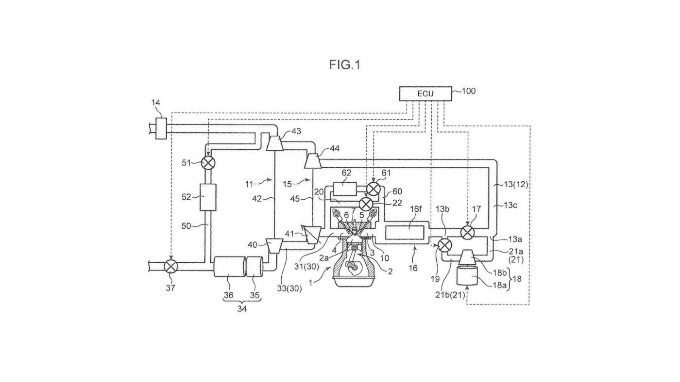 Mazda: Registo de patente de motor com dois turbos e compressor elétrico