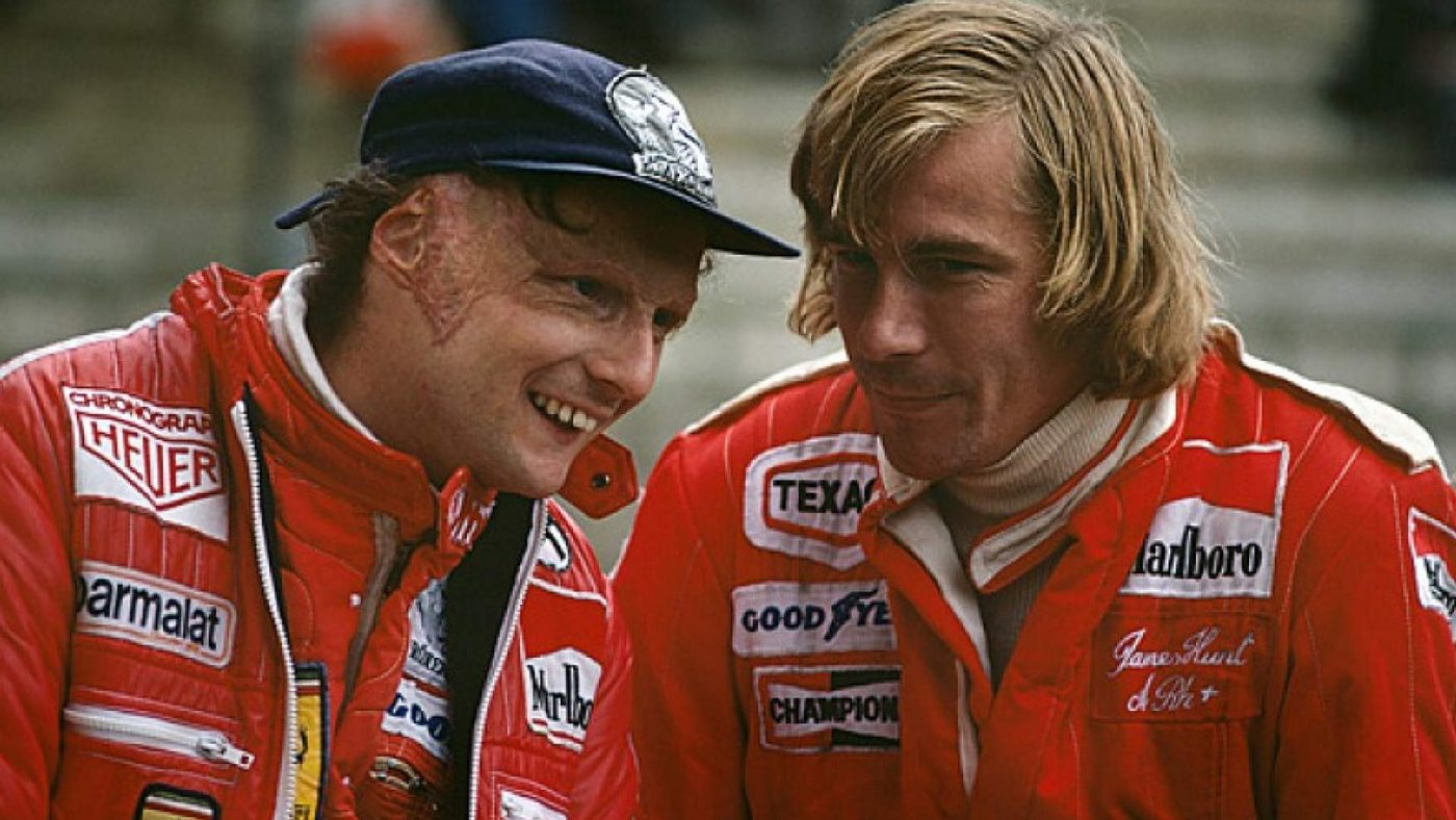 James Hunt e Nikki Lauda