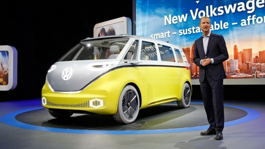 Herbert Diess, Volkswagen CEO, Volkswagen I.D. Buzz