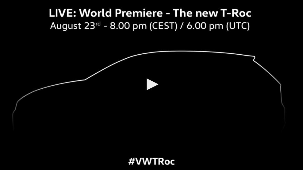 Volkswagen T-Roc é lançado oficialmente — Salão de Frankfurt