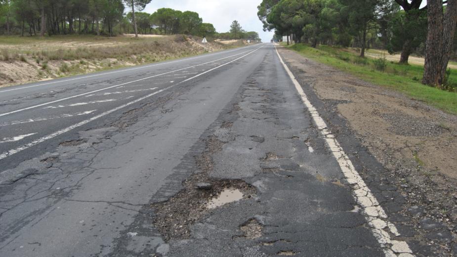 Estradas com buracos
