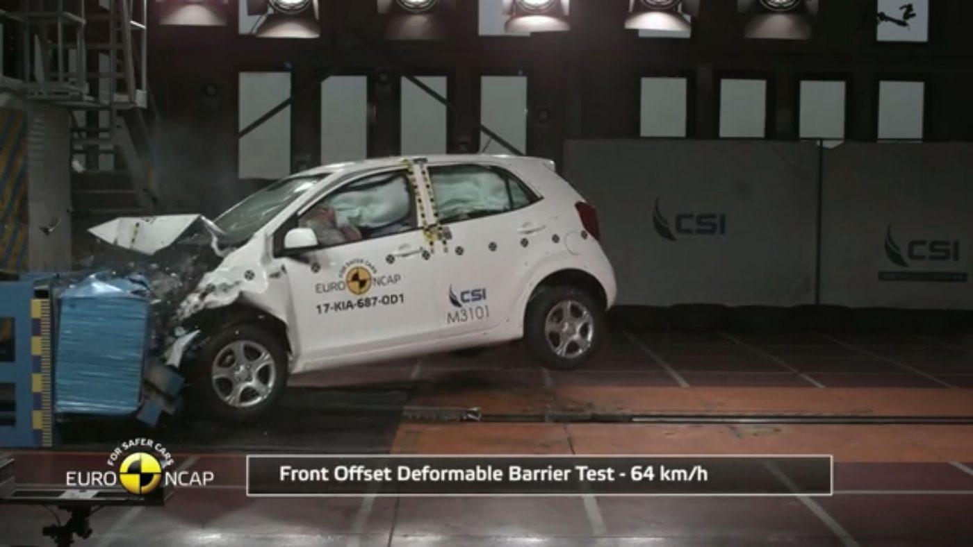 Kia Picanto - teste de colisão