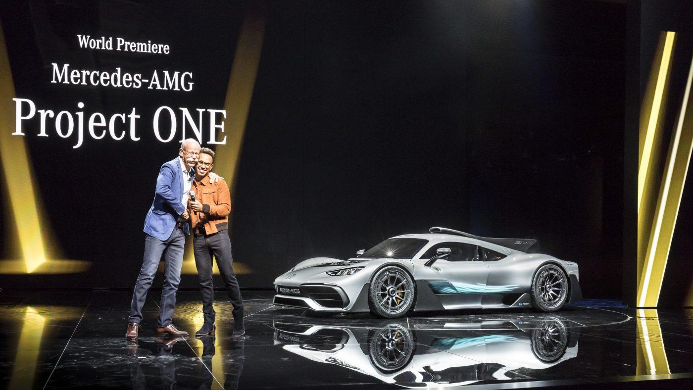 Dr. Dieter Zetsche, Lewis Hamilton e Mercedes-AMG Project ONE