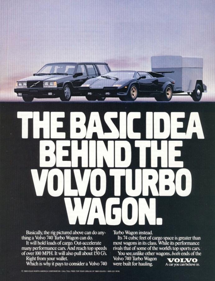 Anúncio Volvo Turbo Wagon