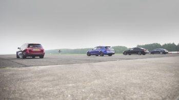 Tesla Model S P100D vs Mercedes-AMG E63 vs Audi RS6 vs BMW M760Li