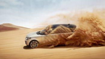 Range Rover no meio da areia